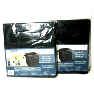 ClosetMaid Cubeicals Fabric Drawers 2 Black